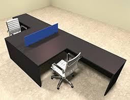 Office workstation desks Partition Amazoncom Two Person Blue Divider Office Workstation Desk Set Otsulfpb28 Office Products Amazoncom Amazoncom Two Person Blue Divider Office Workstation Desk Set Ot