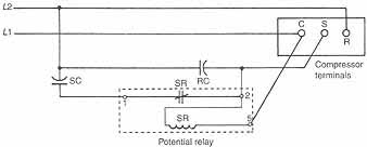 10 3 potential relays 10 4 solid state starting relays and 10 7 schematic diagram of a potential relay