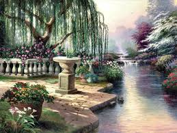 hour of prayer by thomas kinkade outdoor scenes that make me swoon garden of prayer thomas