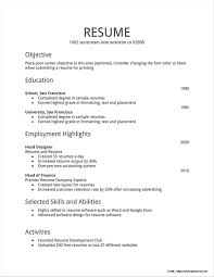 Simple Job Resume Format For Freshers Resume Resume Examples