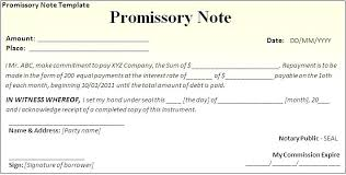 Promissory Note Template For Family Member Free Promissory Note Template For Personal Loan Sample