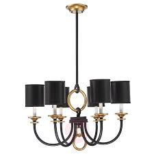 6 light chandelier parkdale in black and gold 8540020 01