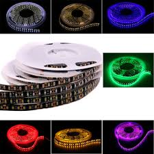 Cool White Led Tape Light Us 8 11 29 Off 5m 600leds Led Strip Light Dc12v 24v Waterproof Ribbon Tape Cool White Warm White Blue Green Yellow Red Pink Home Decoration In Led