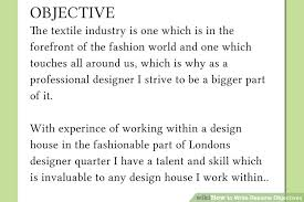how to write resume objectives    examples    wikihowimage titled write resume objectives step
