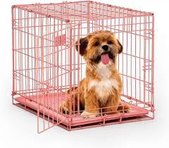 Light Blue Dog Crate Midwest Icrate Single Door Pink Dog Crate