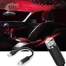 <b>4PCS Mini USB</b> Purple <b>LED</b> Car Interior Light Neon Atmosphere ...