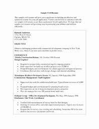 Format Of Resume For Civil Engineer Fresher Beautiful Sample Resume