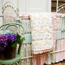 mini baby girl crib bedding