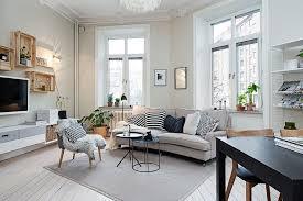 ... Small living room decorating idea in Scandinavian style [Design: Studio  Cuvier]