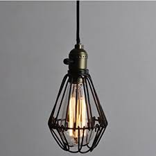 vintage pendant light chandelier wire cage hanging lampshade retro inside lamp shade idea 4