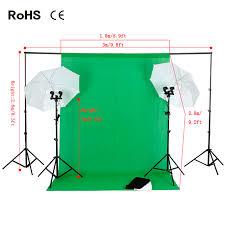 photo studio backdrop umbrella lighting kit set 2 6m 3m background support stand