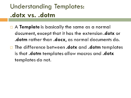Dotm Extension Microsoft Word 2010 Lesson 6 Word Templates The Goal Of