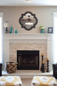 diy stacked stone fireplace via jhalvorsondesigns com