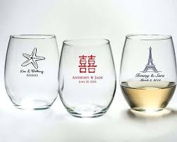stemless wine glass wedding favours with free many colours themes gift box 15 oz canada them stemless wine glass