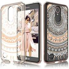 ADIB0732Z139J LG K20 V Case, Plus Clear Harmony/ V5/ K10 2017 Cover For Girls, Tekcoo TFlower Retro Pattern Transparent