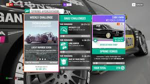 the 1988 bmw m5 forza edition and the 1965 hoonigan gymkhana 10 ford hoonicorn mustang are available in the forzathon and there are two new vauxhall