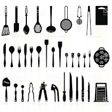 kitchen utensils silhouette vector free. Kitchen Utensils Silhouette Pack 2 - Cooking Tools Royalty-free Vector Free T