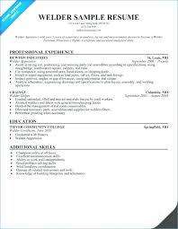 Welder Resume Mesmerizing Resume Objective Samples Welding Plus Tank Welder Sample Resume