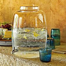handblown glass beverage dispenser the green head with regard to metal spigot designs 6