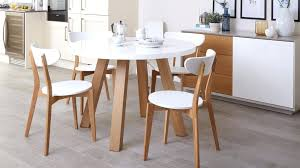 round white dining table oak and white round dining set