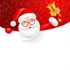 Blank Christmas Background Santa With Bell And Blank Christmas Background Vector 01 Free Download