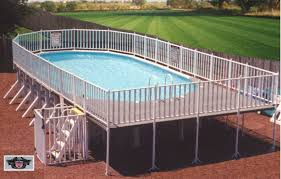 traditional above ground pool and deck pools st louis a38