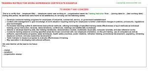 Training In Dhl Work Experience Certificates