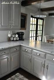 light gray cabinets dark grey kitchen with subway tile granite countertops white cabin
