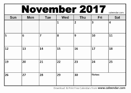 printable november calendar november 2017 calendar printable template with holidays