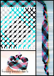 Friendship Bracelet Patterns Beauteous Pink Blue Black Friendship Bracelet Tutorial YouTube