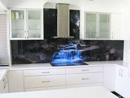 Printed Glass Splashback contemporary-kitchen