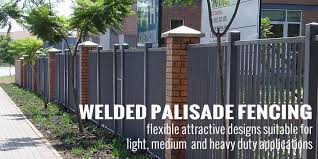 Small Picture Fencing Materials Welded Palisade Fencing