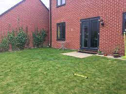 creating a patio on uneven ground
