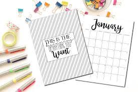 free cute printable 2017 calendars