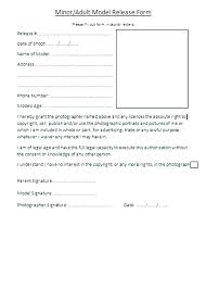 Photographer Release Forms Enchanting Photography Waiver Form Template