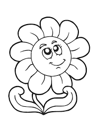 Small Picture Best Spring Flowers Coloring Pages 44 For Line Drawings with