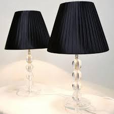 image of bedside table lamp black
