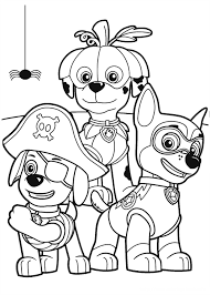 Paw Patrol Puppies In Halloween Costume