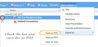 Google Docs Powerpoint Convert Word Powerpoint Excel Documents Into Pdf Using