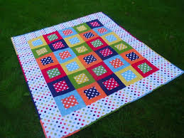 Sew this punchy FREE Dotty Squares Quilt by Karen Maxwell with ... & Sew this punchy FREE Dotty Squares Quilt by Karen Maxwell with Cotton Dots  by Riley Blake Adamdwight.com