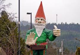 the world s tallest gnome is in b c but he needs a new home asap