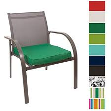 seat pads for outside chairs. outdoor seat pad cushions - fibre filled for chairs colourful water resistant garden chair pads by pebble® (green) outside