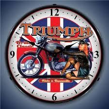 119 95 retro triumph bike lighted wall