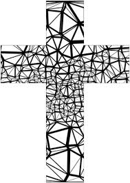 Stained Glass Abstract Cross Coloring Page Free Printable Coloring