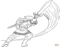 Link Coloring Pages Link And Zelda Coloring Page Free Printable