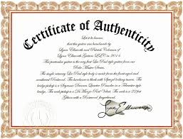 10 Authenticity Certificate Templates Proposal Sample