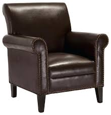 brown leather accent chair transitional armchairs and accent chairs leather club chair chocolate brown christopher knight home jackie brown leather accent