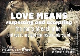 Love Means Quotes New Relationships Work Quote Love Means Respecting And Accepting It's