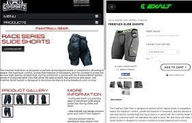 Gi Sportz Pants Size Chart New Gi Sportz Race Series 2 0 Protective Gear Slide Shorts