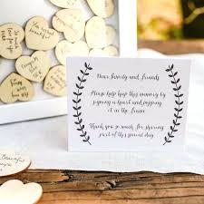 wooden heart wedding guest book tree